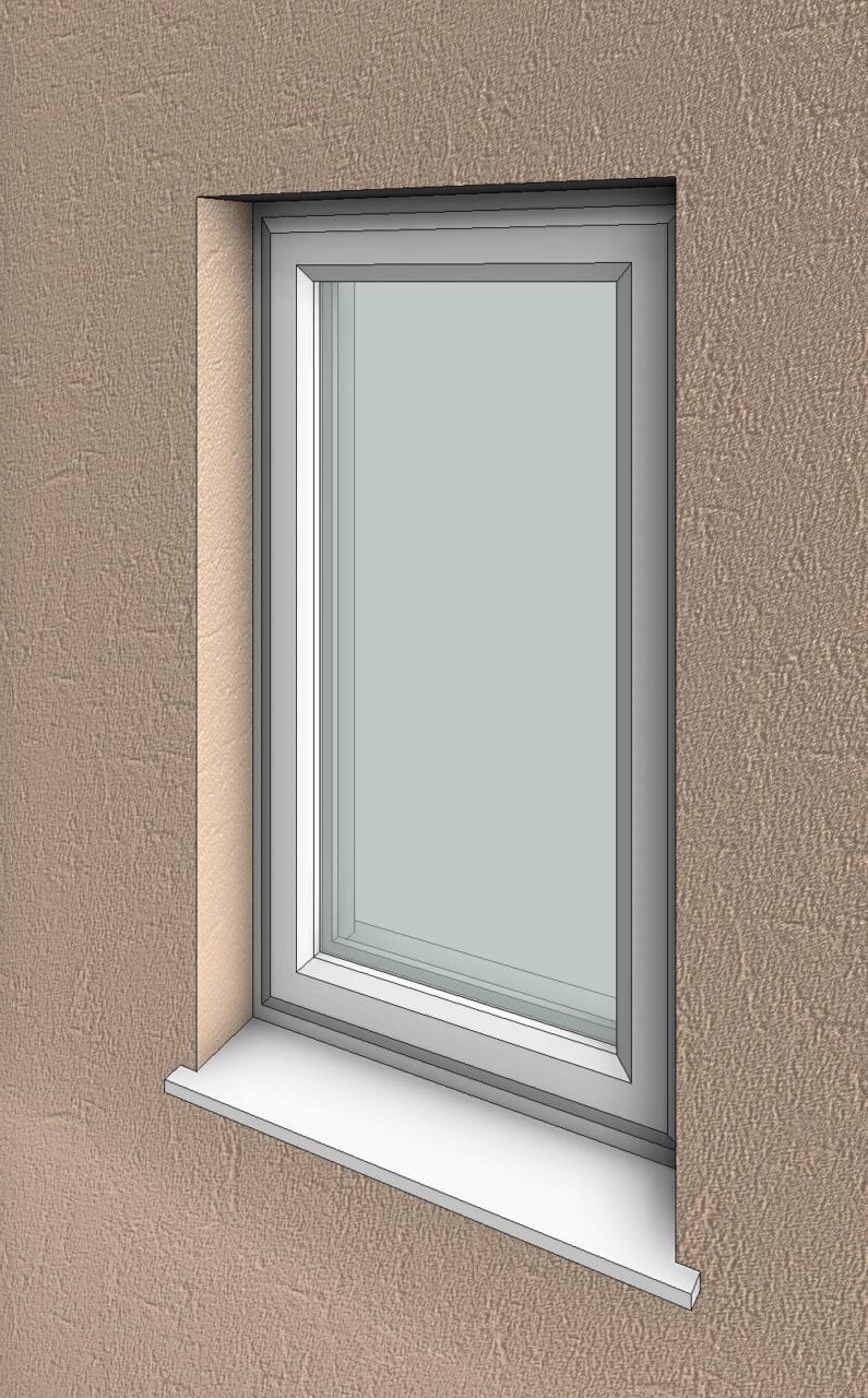 Single Casement Window : Glazed doors window bundle essential bim
