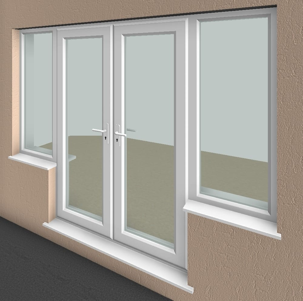 French doors with side windows essential bim for French window